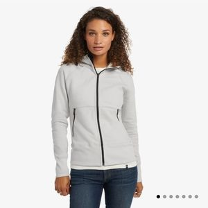 American Giant, storm full zip in minimal gray, size large, water-repellent